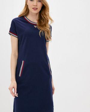 Платье футболка синее снежная королева