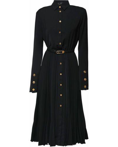 Платье макси на пуговицах плиссированное Versace