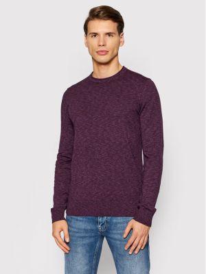 Sweter - fioletowy Boss