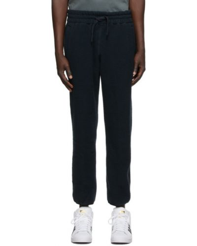 Runo czarny spodnie z mankietami z łatami Aime Leon Dore