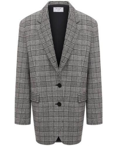 Серый пиджак с подкладкой из вискозы Seven Lab