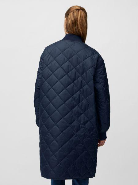 Утепленное синее пальто Marc O'polo Denim
