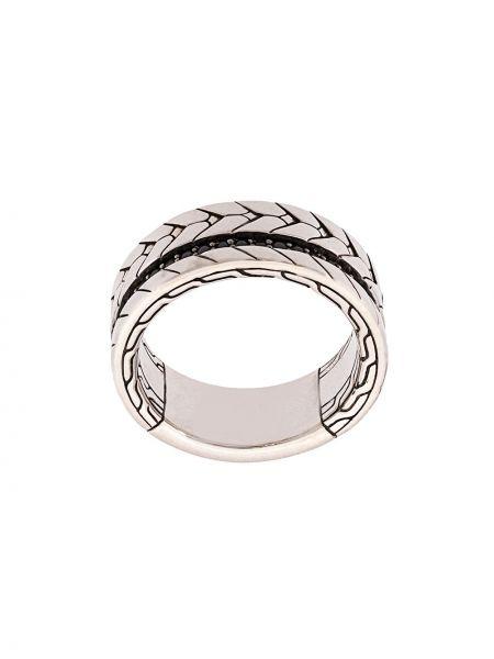 Klasyczny czarny łańcuch ze srebra szafir John Hardy