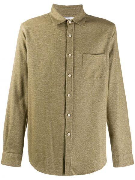 Классическая фланелевая классическая рубашка с воротником с карманами Portuguese Flannel