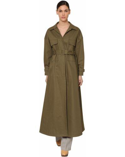 Płaszcz khaki z paskiem bawełniany Jacquemus