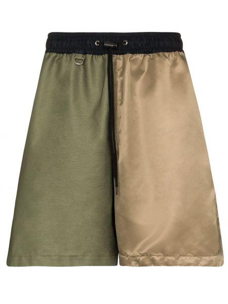 Нейлоновые зеленые шорты с поясом на шнурках Sophnet.