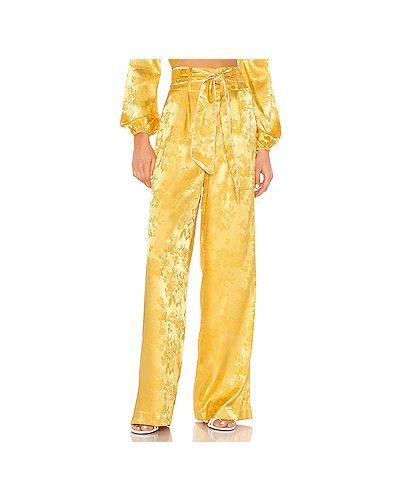 Свободные брюки жаккардовые желтый Camila Coelho