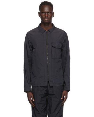 Czarna długa kurtka bawełniana z długimi rękawami Nemen