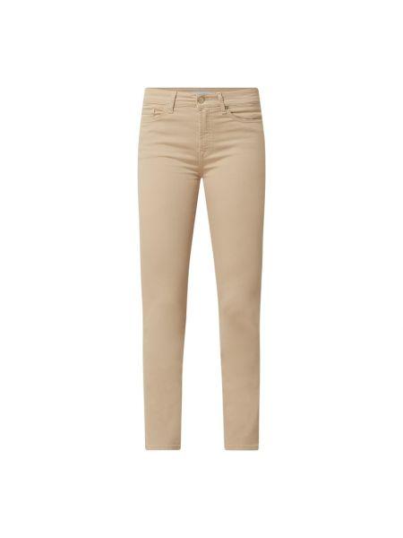 Mom jeans bawełniane - beżowe 7 For All Mankind