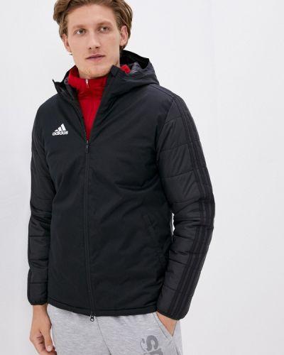 Черная утепленная куртка Adidas
