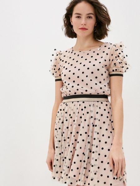 Платье розовое прямое Rinascimento