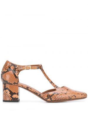 Брендовые коричневые туфли-лодочки на каблуке L'autre Chose