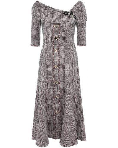 Платье миди вязаное на пуговицах Erdem
