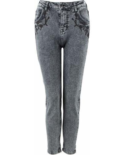 Серые джинсы с вышивкой Mustang