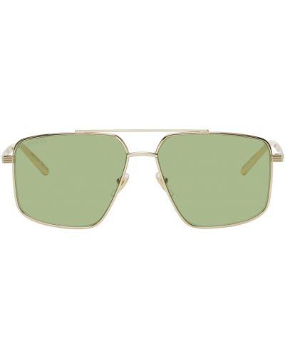 Białe złote okulary Gucci
