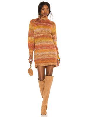 Платье с декольте - оранжевое House Of Harlow 1960