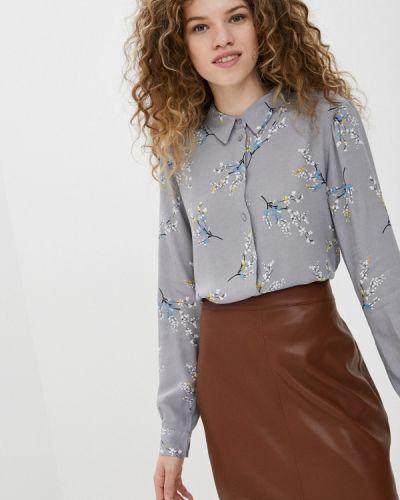 Серая блузка с длинными рукавами Ichi