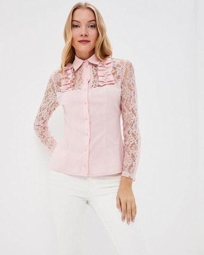 Розовая блузка кружевная Adzhedo