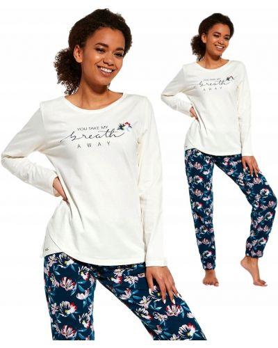 Piżama bawełniana z długimi rękawami Cornette