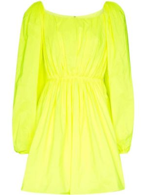 Платье мини плиссированное со складками Valentino