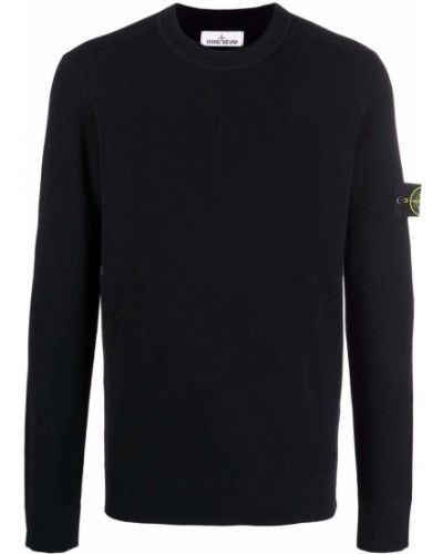 Шерстяной свитер - черный Stone Island