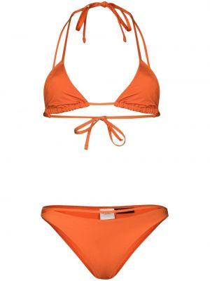 Оранжевые пляжные бикини с завязками Jacquemus