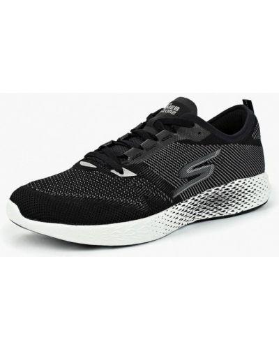 Черные кроссовки низкие Skechers