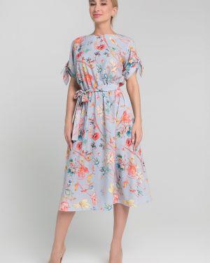 Платье с поясом с цветочным принтом платье-сарафан Sezoni