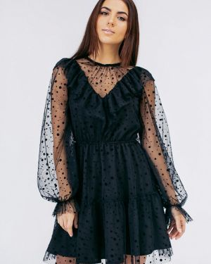 Вечернее платье черное весеннее Bessa