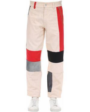Białe spodnie bawełniane do pracy Gr Uniforma X Diesel Red Tag