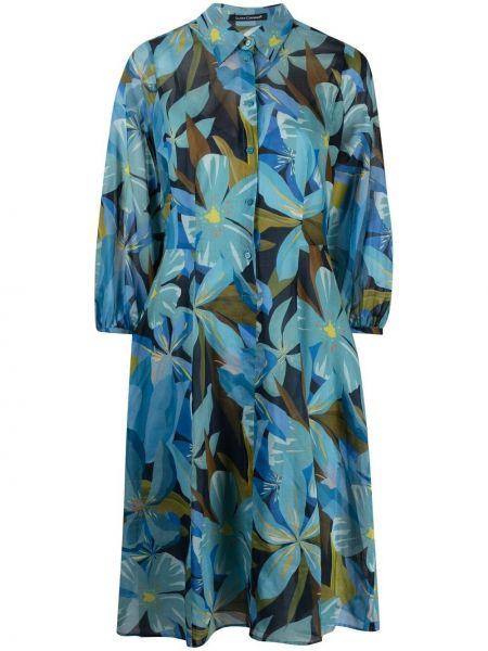 Платье рубашка - синее Luisa Cerano