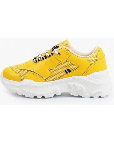 Кожаные желтые кроссовки Escan