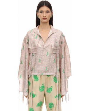Рубашка оверсайз с завязками Lanvin