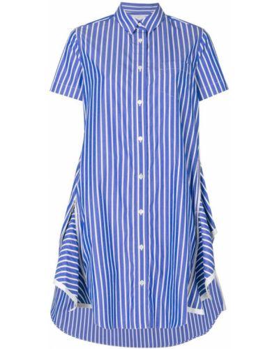 Платье платье-рубашка в полоску Sacai