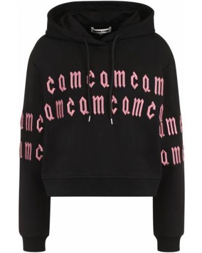 Черный свитер с капюшоном Mcq