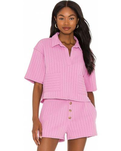 Текстильный розовый топ винтажный Line & Dot