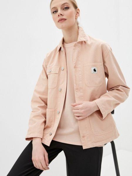 Джинсовая куртка весенняя розовая Carhartt