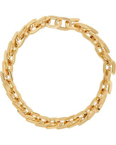 Złoty naszyjnik łańcuch - żółty Givenchy