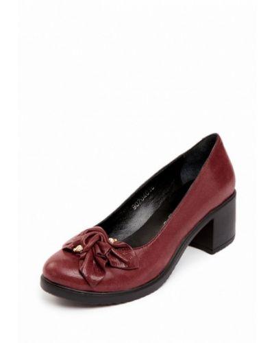 Туфли бордовый велюровые Pierre Cardin