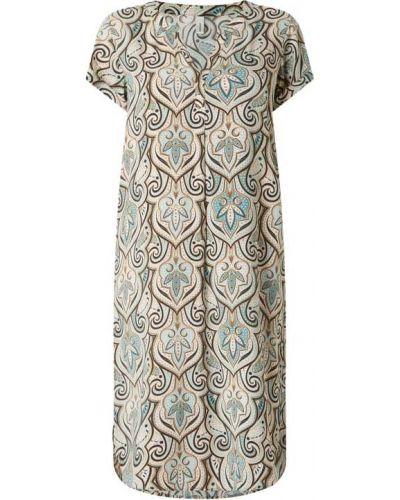 Sukienka mini rozkloszowana z wiskozy krótki rękaw Soyaconcept