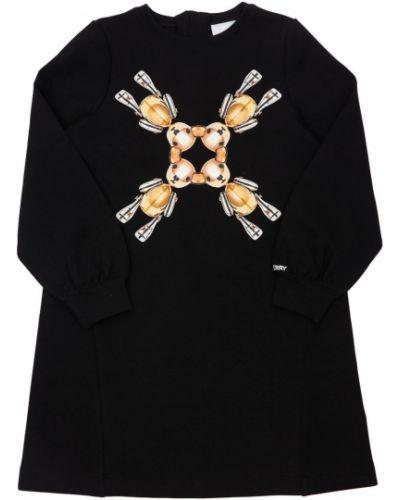 Трикотажное платье - черное Burberry