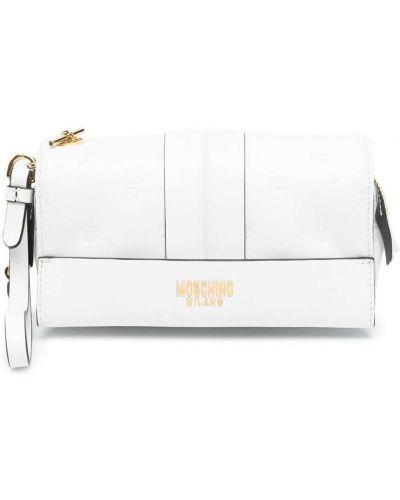 Złota biała kopertówka Moschino