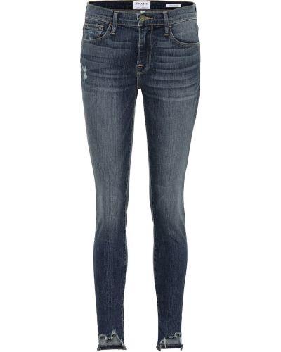 Zawężony niebieski bawełna bawełna obcisłe dżinsy Frame