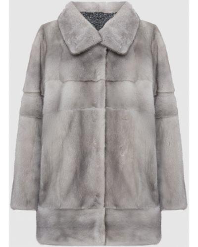 Пальто с мехом - серое Florence Mode