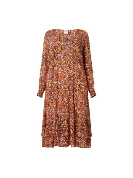 Sukienka rozkloszowana z falbanami z długimi rękawami Junarose