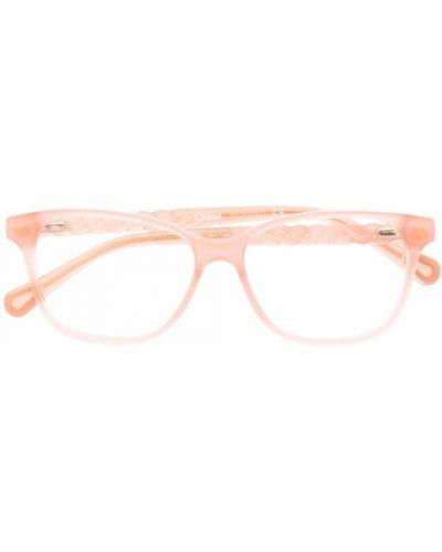 Pomarańczowe okulary Chloé Kids