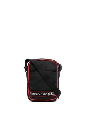 Черная сумка на плечо на молнии с карманами Alexander Mcqueen