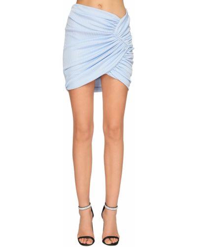 Трикотажная юбка - голубая Alexandre Vauthier