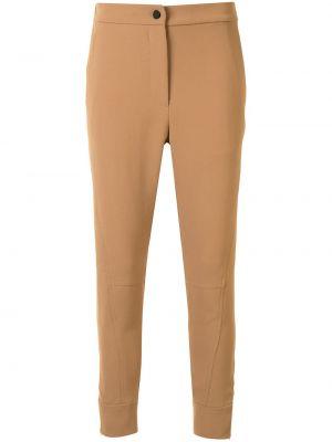 Коричневые брюки на пуговицах Manning Cartell