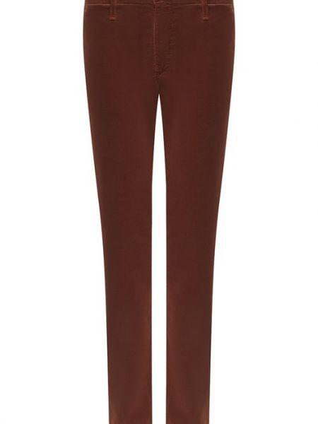 Хлопковые коричневые джинсы Ag